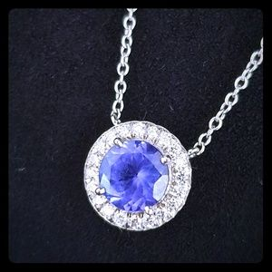 Tiffany & Co. Soleste Sapphire and Diamond Pendant